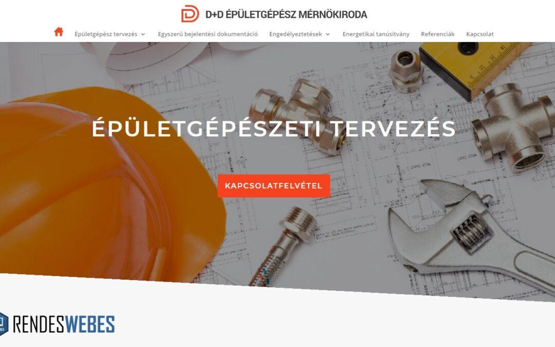 D+D épületgépészet honlapja