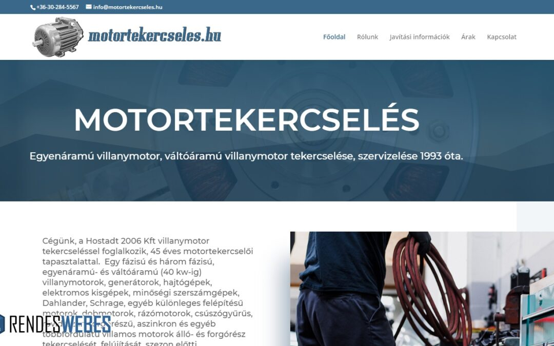 Motortekercseles.hu – honlapkészítés referencia