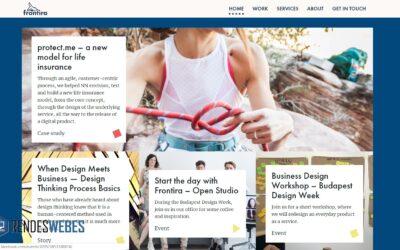 A Frontíra nemzetközi, design cég honlapja