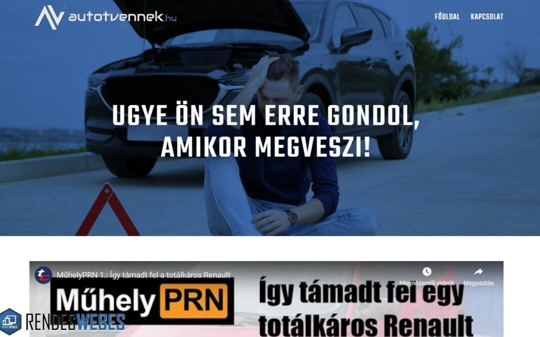 Pryma Autócentrum autotvennek.hu honlapja